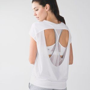 Lululemon If You're Lucky Short Sleeve Tee - White